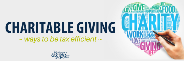 Charitable Giving - ways to be tax efficient